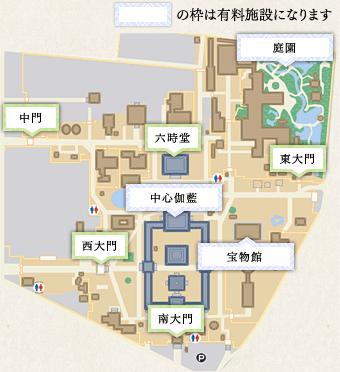 四天王寺的境內地圖